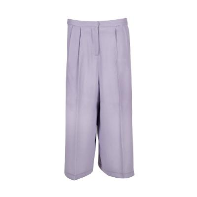 feather light wide pants lavender